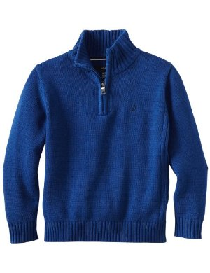 Nautica <br/> One-Fourth Zip Solid Sweater