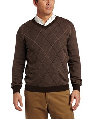 Perry Ellis <br/> Argyle Sweater
