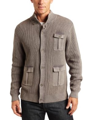 Alex Stevens <br/> Ribbed Acid Wash Button Cardigan