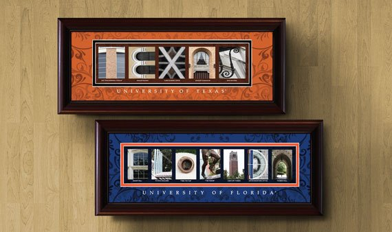 University Framed Letter Art  - Visit Event