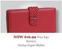 Buxton Hailey Super Wallet