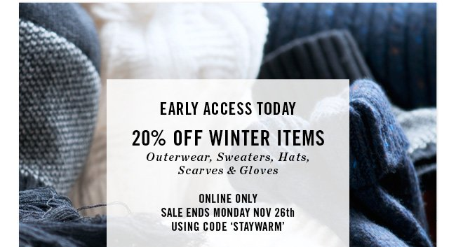 20% off winter items