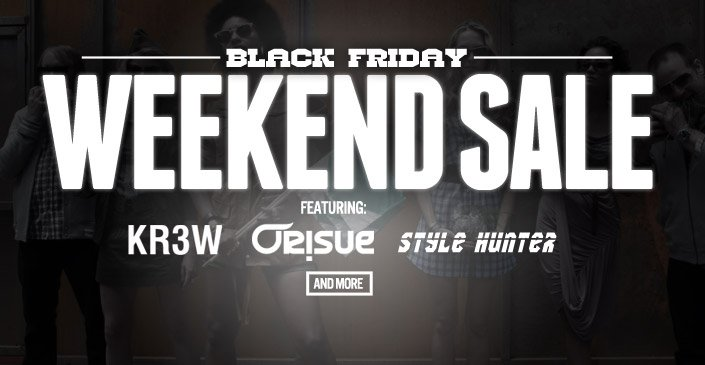 Black (Friday) Weekend Sale