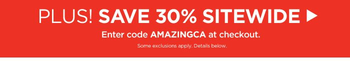 Plus! Save 30% off Sitewide!