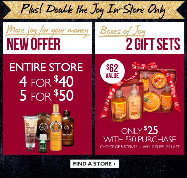 Plus! Double the JOY in-store and online
