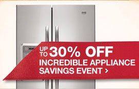 Incredible Appliance Savings Event