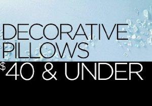 Decorative Pillows: $40 & Under