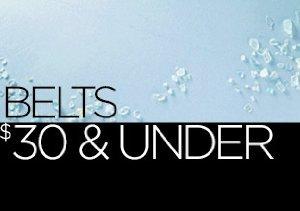 Belts: $30 & Under