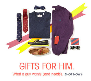 GIFTS FOR HIM. SHOP NOW