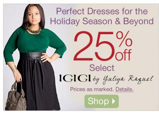 Perfect Dresses for the Holiday Season & Beyond - 25% off Select IGIGI by Yuliya Raquel