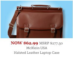 McKlein USA Halsted Leather Laptop Case