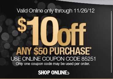 $10 off any $50 purchase