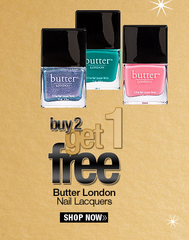Buy 2 Get 1 FREE Butter London Nail Lacquers