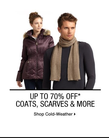 UP TO 70% OFF* WINTER MIX: COATS, SCARVES & MORE