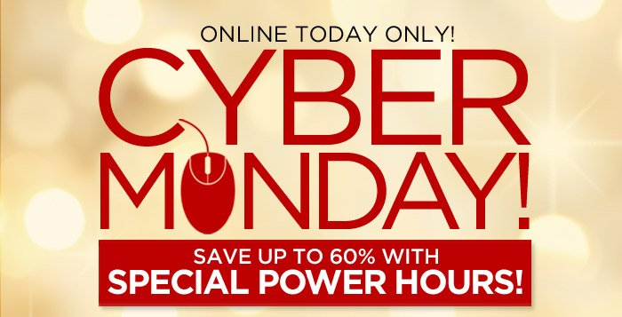 Online Today Only! Cyber Monday