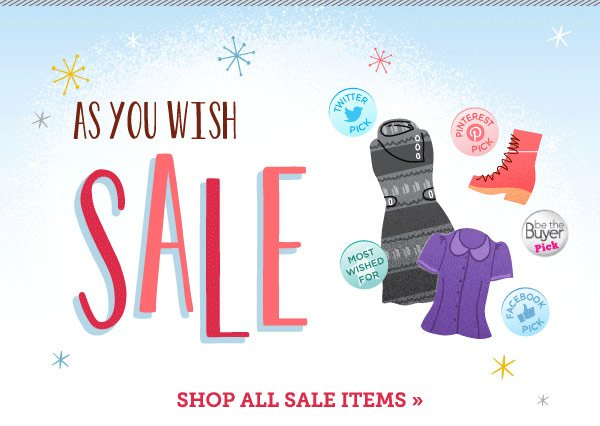 As You Wish Sale