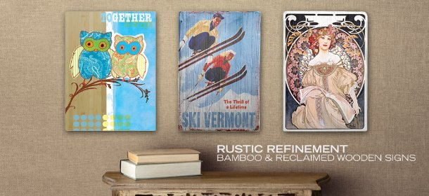 RUSTIC REFINEMENT: BAMBOO & RECLAIMED WOODEN SIGNS, Event Ends November 28, 9:00 AM PT >