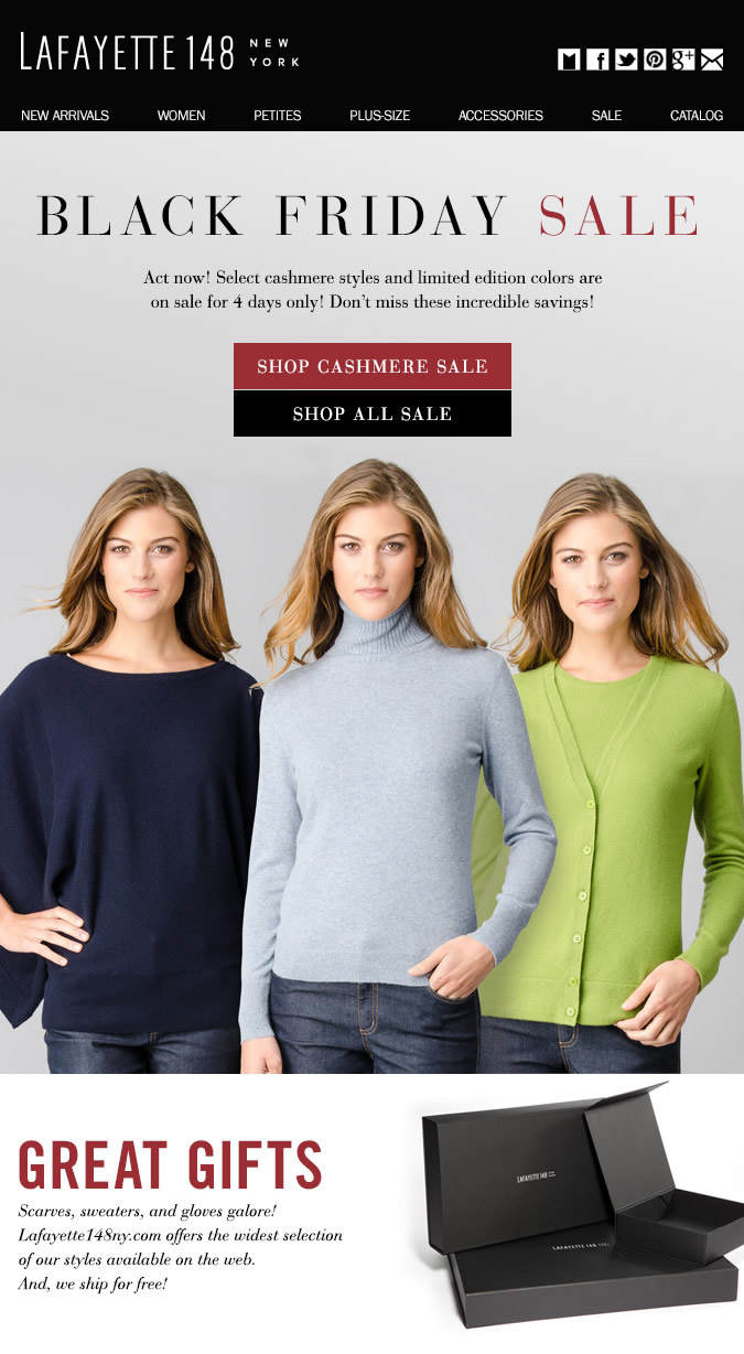 4 Days Only! Select Cashmere on Sale