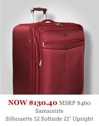 "Samsonite Silhouette 12 Softside 21"" Exp Upright"