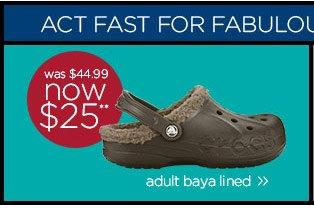 adult baya lined