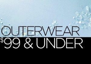 Outerwear: $99 & Under