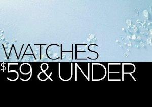 Watches: $59 & Under