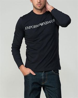 Armani Brand Name Print Long Sleeved Men's Shirt
