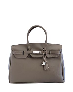 H&S Genuine Leather Tote Made in Italy