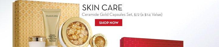 SKIN CARE. Ceramide Gold Capsules Set, $72 (a $114 Value). SHOP NOW.