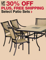 Up to 30% OFF select patio sets