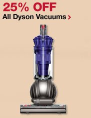 25% OFF on all Dyson vaccuums