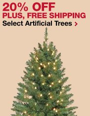 20% OFF Plus free shipping select artificial tree
