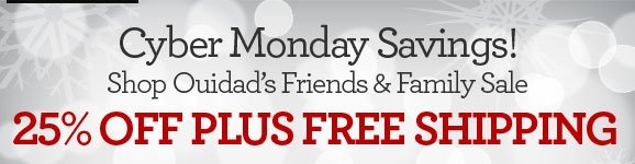 Cyber Monday Savings! Shop Ouidad's Friends & Family Sale - 25% OFF PLUS FREE SHIPPING