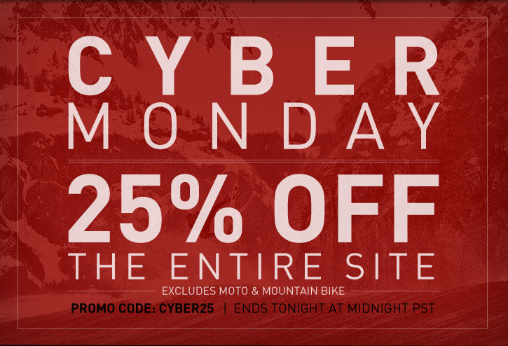 Cyber Monday Sale 25% Off