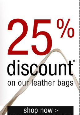 25% discount on leather jackets