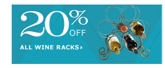20% off all wine racks