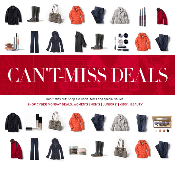 CAN'T-MISS DEALS - Don't miss out! Shop exclusive items and special values.