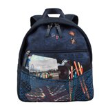 Paul Smith Junior - Boys' Navy Explorer Print Backpack
