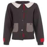 Paul Smith Junior - Girls' Grey Crew Neck Cardigan
