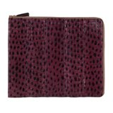 Paul Smith Accessories - Damson Snakeskin iPad Case