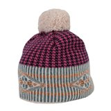 Paul Smith Hats - Pink Geometric Pattern Beanie Hat