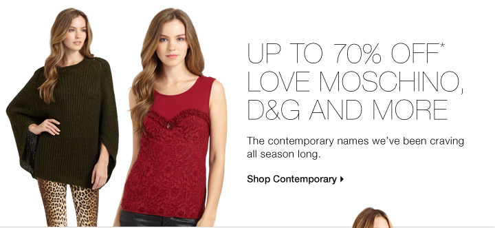 UP TO 70% OFF* CONTEMPORARY HIT LIST