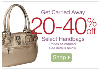 Get Carried Away 20-40% off Select Handbags