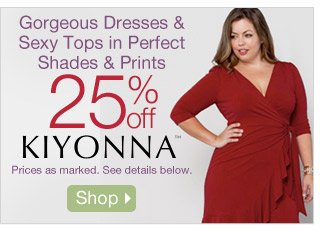 Gorgeous Dresses & Sexy Tops in Perfect Shades & Prints - 25% off Kiyonna