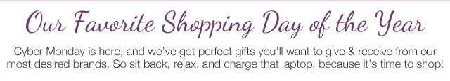 Our Favorite Shopping Day of the Year
