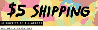 $5 Shipping On All Orders