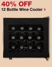 40% OFF 12 Bottle Wine Cooler