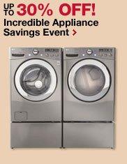 Incredible Appliance Savings Event