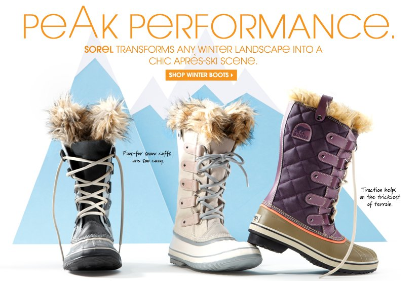 PEAK PERFORMANCE. SHOP WINTER BOOTS