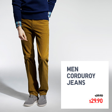 Men corduroy jeans